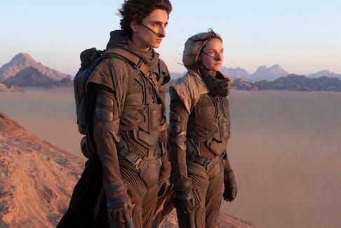 Desert power: Timothée Chalamet and Rebecca Ferguson in Dune.
