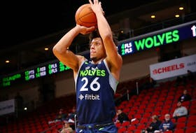 Dartmouth's Lindell Wigginton, shown with the Iowa Wolves of the NBA G League will play for the Wisconsin Herd this season.