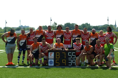 Halifax Dockers and Sydney Giants after a recent fixture