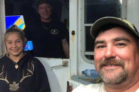 Captain Steve Grant fishes for a moderate livelihood with Alisha Hazelton and Keith Mallet on The Bay of Fundy.