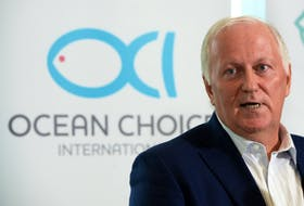 Martin Sullivan, chief executive officer and co-chairman of Ocean Choice International, speaks to media during a press conference in St. John's Wednesday afternoon.