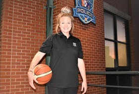 Cst. Katie Titus-Walsh has used the sport of basketball to give back to her adopted community as a volunteer, while serving and protecting Truro as a member of its police service.