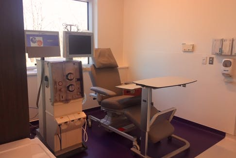 Undergoing dialysis treatment usually takes four hours to complete. COMMUNICATIONS NOVA SCOTIA