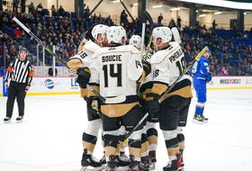 For a second straight night, the Newfoundland Growlers got to celebrate a win in Trois-Rivieres. — Twitter/Newfoundland Growlers