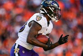 Latavius Murray of the Baltimore Ravens.