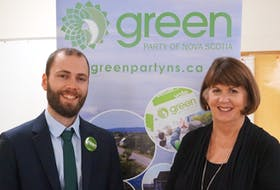 Anthony Edmonds and Jo-Ann Roberts were elected leader and deputy leader of The Green Party of Nova Scotia on Saturday.