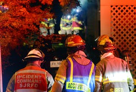 One man was taken to hospital in critical condition following a house fire in downtown St. John's early Sunday morning.