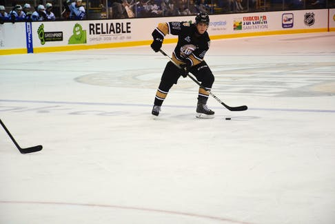 Defenceman Lukas Cormier scored two goals for the Charlottetown Islanders in a 7-1 win over the Rouyn-Noranda Huskies in the Quebec Major Junior Hockey League at Eastlink Centre on Oct. 23.
