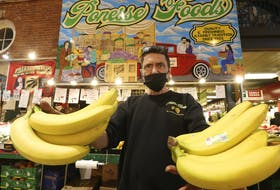 Mario Aricci of Ponesse Foods at St. Lawrence Market said prices for his fruits and vegetables have skyrocketed recently and he has noticed a decline in clientele in the overall Market. Jack Boland/Toronto Sun