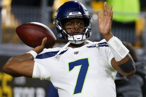 Seattle Seahawks quarterback Geno Smith.