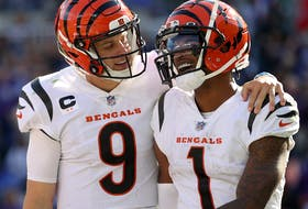 Bengals quarterback Joe Burrow and teammates Ja'Marr Chase have become a lethal duo so far this season.