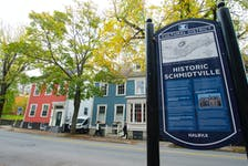 Residents of Morris St. in Halifax's south end will be putting up banners on Tuesday, Oct. 25, 2021 due to their concerns that HRM is considering removing trees on the street in order to widen it for bike lanes.
