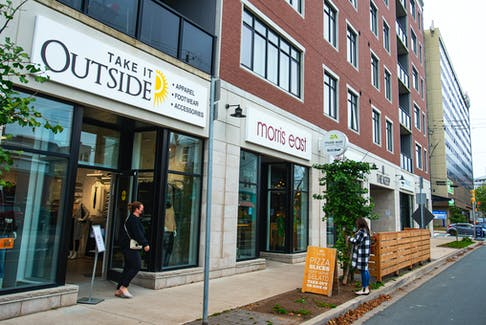 Photo taken on Monday, Oct. 25, 2021. Take it Outside has opened up in the Keep Building on Vernon St. just off of Quinpool Road.