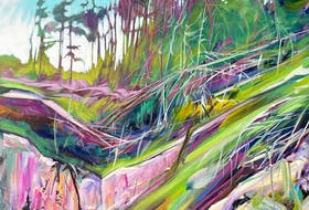 Shane Norrie's artwork is described as having stunning colours and movement.