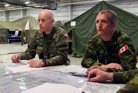 Acting Chief of the Defence Staff Gen. Wayne Eyre, left, pictured in this file photo from 2015 alongside Lieutenant General Trevor Cadieu.