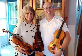 Sherry Bagnell donated three of her late father's fiddles to Emily Tuck's former fiddle teacher, Shawn Macdonald, in Sydney. The fiddles are going to promising students.