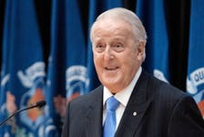 Former Prime Minister Brian Mulroney speaks at an event in 2019.