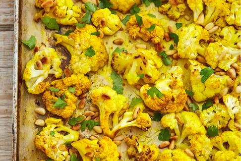 Roasted cauliflower with cumin and turmeric from The Fair Trade Ingredient Cookbook by Nettie Cronish.  Contributed/Whitecap photo