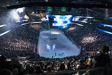 General view of Climate Pledge Arena before a game between the Seattle Kraken and Vancouver Canucks.