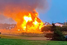 A fire at 1282 Chebogue Rd. on Oct. 26, destroyed a centuries-old barn. Dawn Nickerson Photo