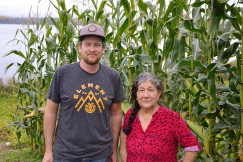 Barton Cutten, left, of the New Agrarians, and Sutik Bernard, a longtime gardener, have partnered to create a community garden on farmland that belonged to Bernard's grandfather in Wagmatcook. ARDELLE REYNOLDS • CAPE BRETON POST