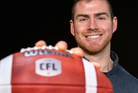 Nick Arbuckle, pictured here on Feb. 7, 2020, was announced as the newest Edmonton Elks quarterback following a trade Tuesday, Oct. 26, 2021.
