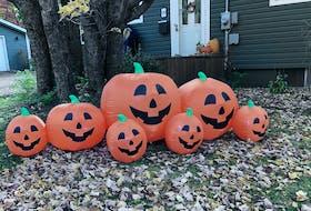 Pumpkin smiles spice up this Sydney River property for Halloween. NICOLE SULLIVAN • CAPE BRETON POST