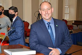 Tim Halman, minister of environment and climate change in Nova Scotia, introduced the ambitious Enviromental Goals and Climate Change Reduction Act at Province House in Halifax on Wednesday, Oct. 27, 2021.