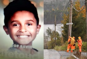 A search and rescue crew works at the corner of Horace Loop and North Preston Road on Wednesday afternoon, Oct. 27, 2021, as the search continues for Ashayo Johnson, 10, who went missing Tuesday afternoon.