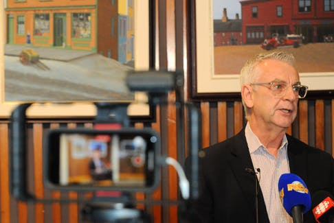 St. John's Mayor Danny Breen speaks at a news conference at the Foran/Greene Room at city hall Wednesday, Oct. 27. Joe Gibbons/The Telegram