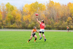 An Australian football game was played in New Glasgow Oct. 23. Photo by Kelvin Balingit