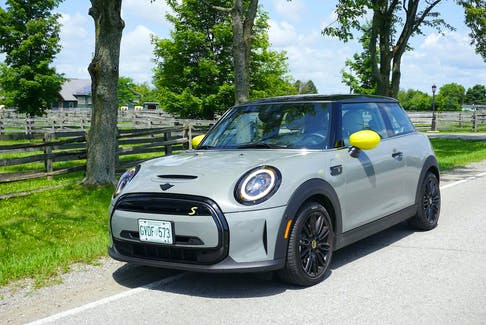 The 2022 Mini Cooper SE 3-door proves that being environmentally conscious doesn't have to be boring or expensive.  Brian Harper/Postmedia News