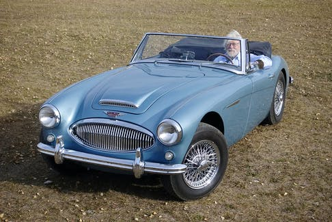 Doug James at the wheel of his 1962 Austin-Healey, a car he has owned since the early 1980s. Contributed/Doug James