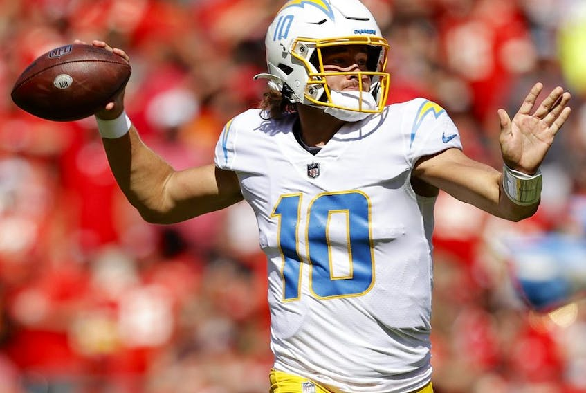 Justin Herbert of the Los Angeles Chargers.