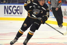 Nicholas Girouard will serve as an assistant captain for the Cape Breton Eagles in 2021-22. JEREMY FRASER/CAPE BRETON POST.