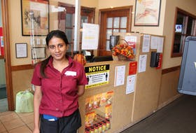 Mary Angela Kavya, bar manager at Smitty's Family Restaurant and Lounge, says it's too soon to tell how restaurant patrons will adjust to the new modified Phase 5 requirements, but added that their customer base has been co-operative adjusting to the ever-changing COVID-19 regulations. — IAN NATHANSON/CAPE BRETON POST
