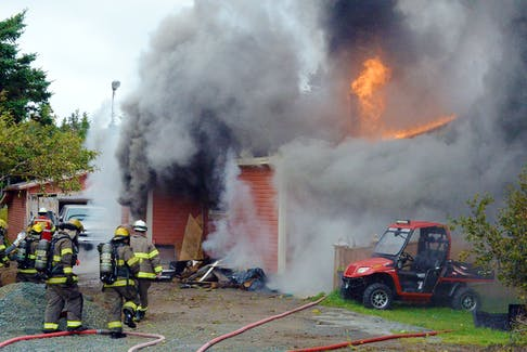 One man is homeless following a fire that destroyed his home in St. John's Monday afternoon.