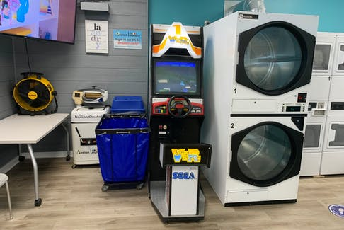 Avalon Laundromat in Mount Pearl doesn't just offer washers and dryers for those doing their laundry. There is also an arcade machine and pinball machines for customers to enjoy.