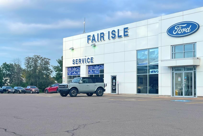 Randy Hume, general sales manager for Fair Isle Ford in Charlottetown and Montague, says a microchip shortage has especially hit bigger vehicles, causing delays of four months or more in getting new consumer and commercial trucks or SUVs in stock.