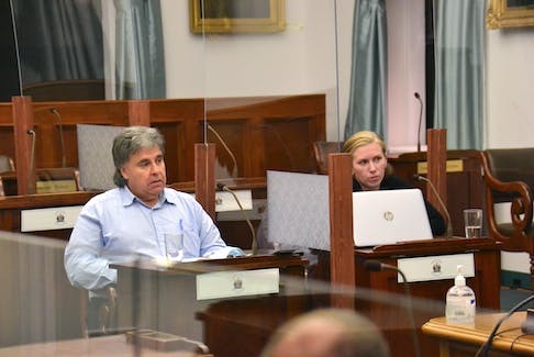 Charlottetown Coun. Mitch Tweel and Hailey Gallant spoke at a standing committee meeting on Oct. 1 about concerns with the Community Outreach Centre. Gallant lives near the centre in Charlottetown. - Stu Neatby • The Guardian
