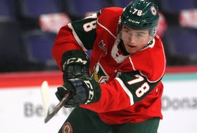 After four season with the QMJHL, Liam Peyton, seen here with the Halifax Mooseheads last year, has joined the Dalhousie Tigers. The 2021-22 AUS season opens this week - TIM KROCHAK / THE CHRONICLE HERALD