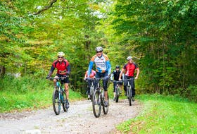 The first annual Terra Fondo mountain bike ride held on Saturday, October 2, in Clare. Veintitres Photography