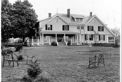 This was the former residence of fruit-growing pioneer, Ralph S. Eaton. It is one of the houses featured in the Kentville Historical Society calendar for 2022. (Louis Comeau collection)