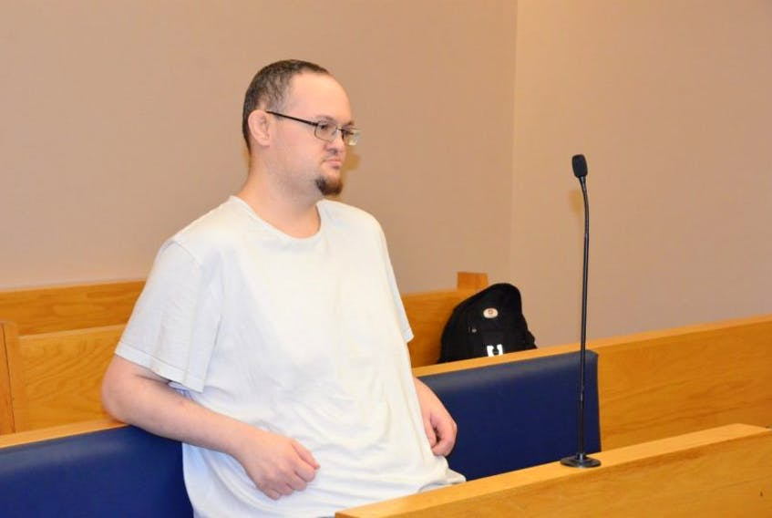 Matthew Twyne in court during a previous appearance. TELEGRAM FILE PHOTO
