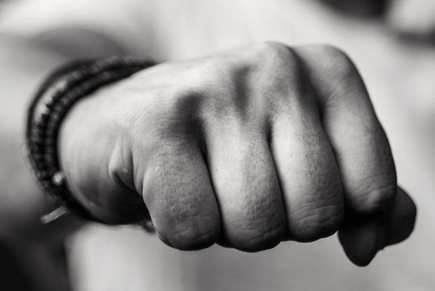 A close-up of a balled fist.