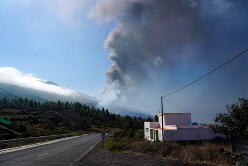 The volcanic eruption on La Palma in the Canary Islands.