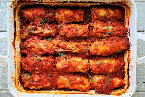 Mom's cabbage rolls from Vegetables: A Love Story.