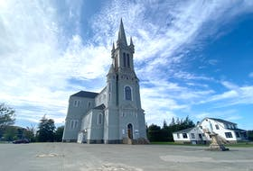 Église Sainte-Marie in Church Point, Digby County. TINA COMEAU • TRICOUNTY VANGUARD