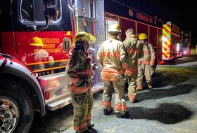 The Stewiacke & District Fire Department has 28 members, including Chief Mark Crozier and Deputy Chiefs Brandon Verboom and Kara McCurdy. - Photo Contributed.