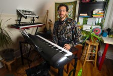 Musician Behrooz Mihankhan at his Halifax home on Wednesday, Oct. 6, 2021. Mihankhan will be performing on Oct. 16 at the Music Room for the release of his album Lydium.